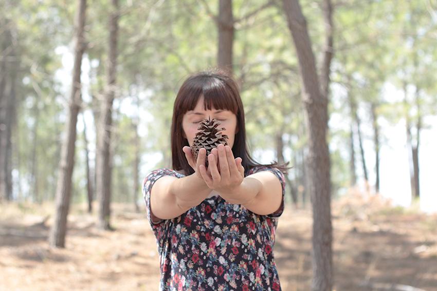 pinar mostrando piña