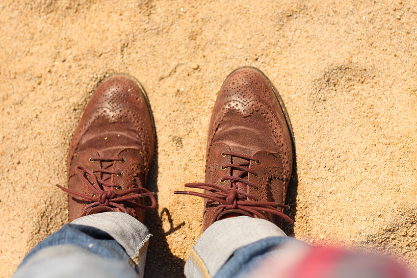 villasbuenas potras zapatos en la arena